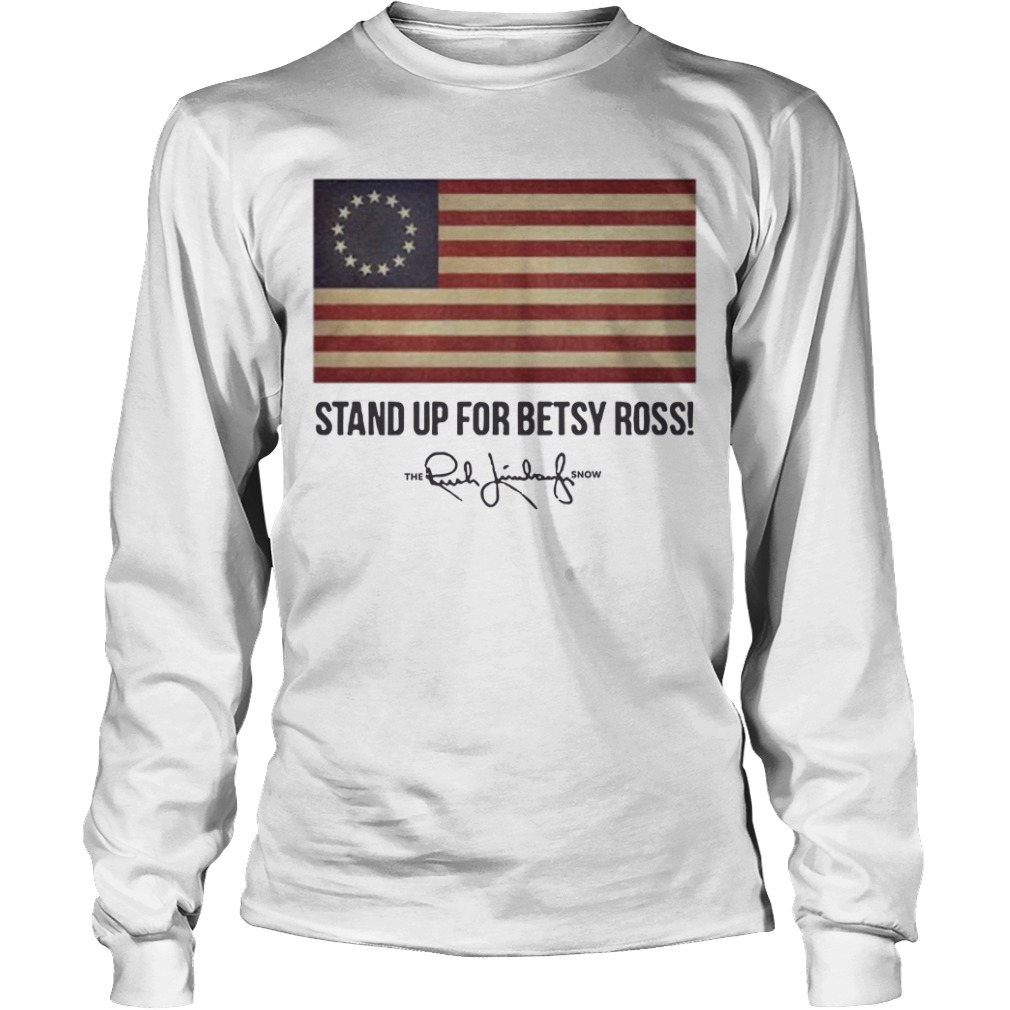 Rush Limbaugh Betsy Ross Flag Longsleeve Tee