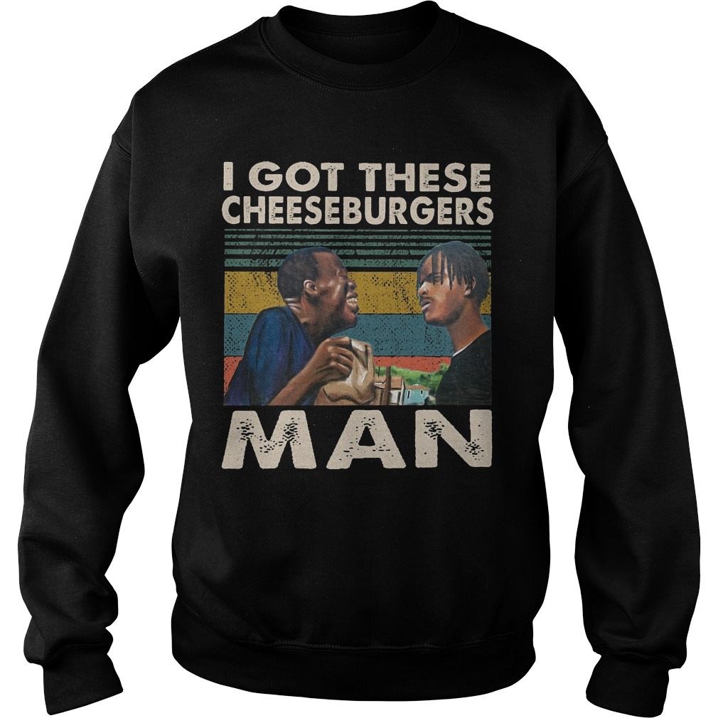 Vintage I Got These Cheeseburgers Man Sweater