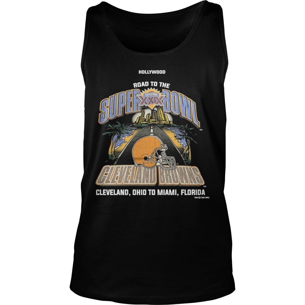 Wood Road To The Super Bowl Cleveland Browns Tank Top
