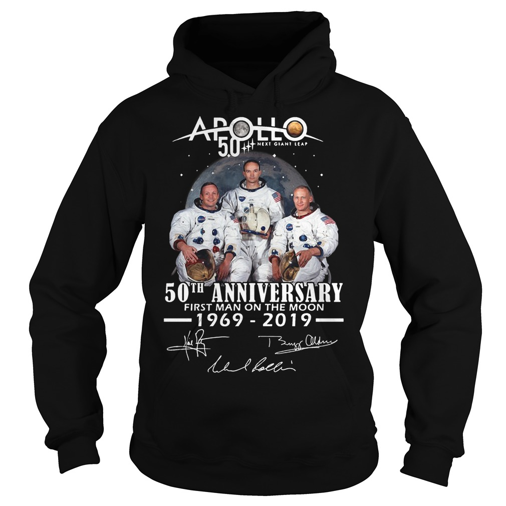 Apollo 50th Anniversary First Man On The Moon 1969 2019 Hoodie