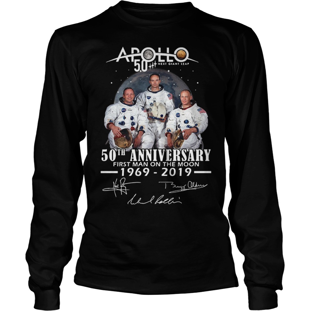 Apollo 50th Anniversary First Man On The Moon 1969 2019 Longsleeve Tee