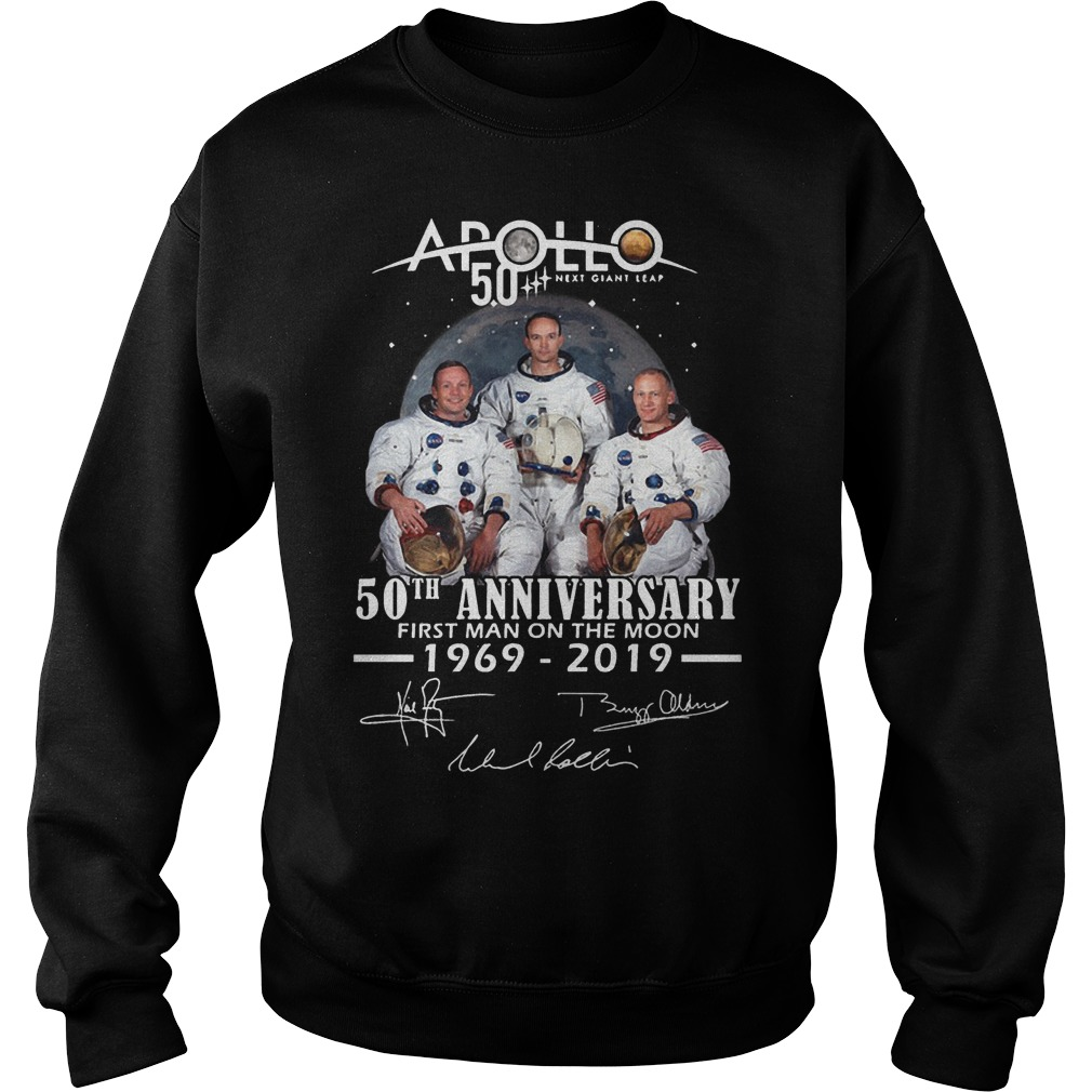 Apollo 50th Anniversary First Man On The Moon 1969 2019 Sweater