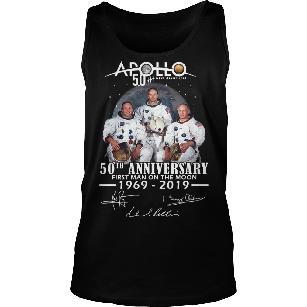 Apollo 50th Anniversary First Man On The Moon 1969 2019 Tank Top