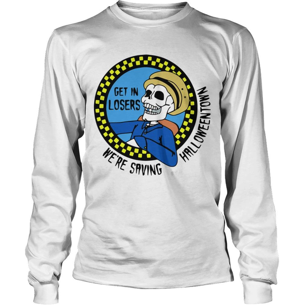 Benny Taxi Driver Get In Losers We're Saving Halloween Longsleeve
