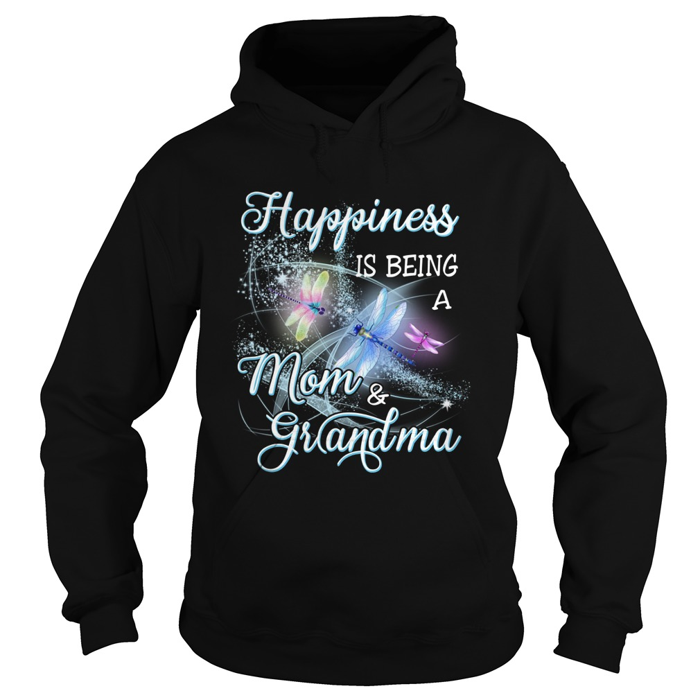 Butterfly Happiness Is Being A Mom And Grandma Hoodie