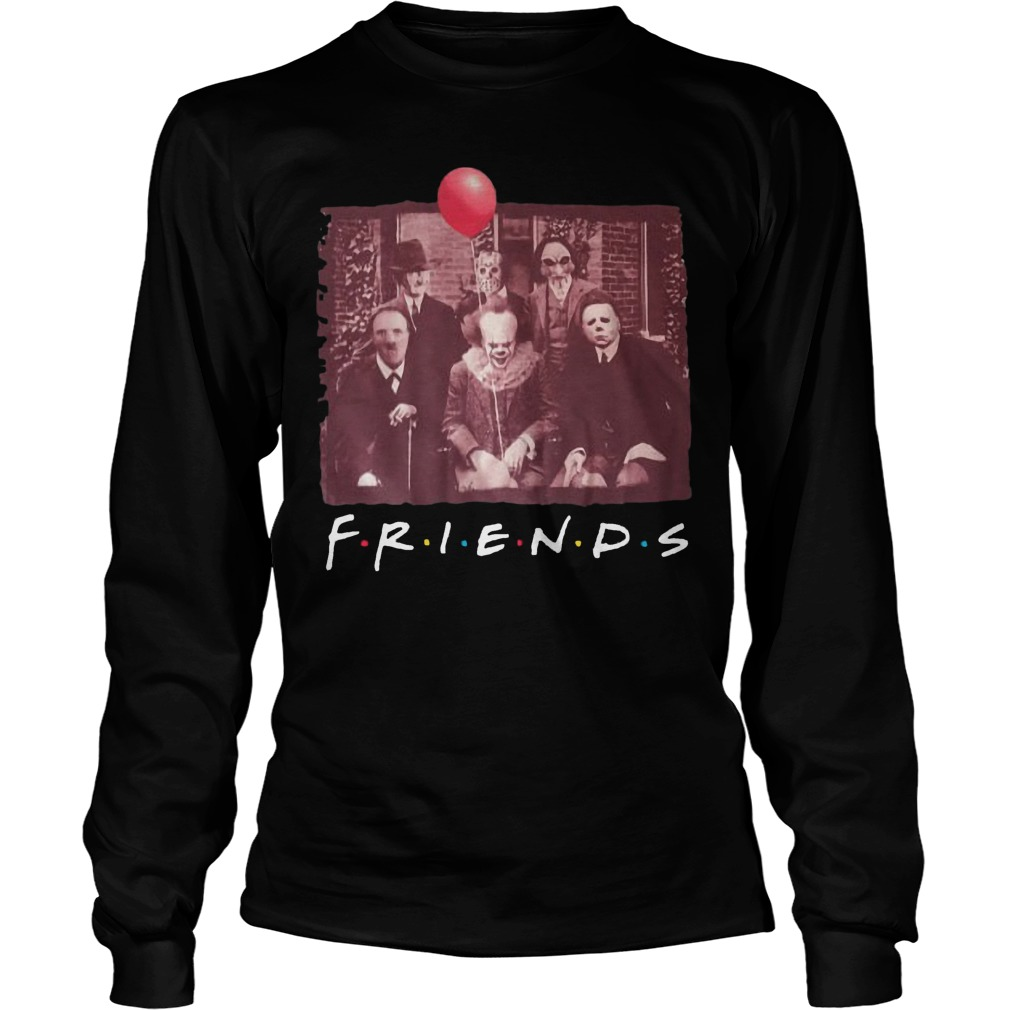 Horror Characters Tv Show Friends Longsleeve Tee