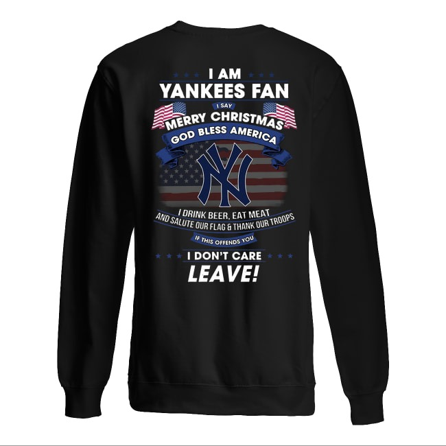 I Am Yankees Fan Merry Christmas God Bless America Sweater