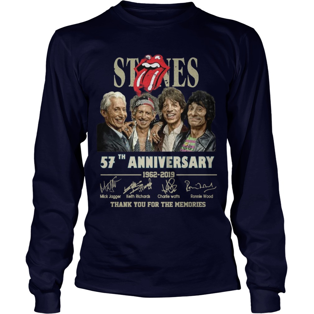 Rolling Stones 57th Anniversary 1962 2019 Thank You For The Memories Longsleeve Tee