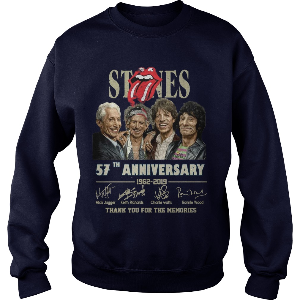 Rolling Stones 57th Anniversary 1962 2019 Thank You For The Memories Sweater