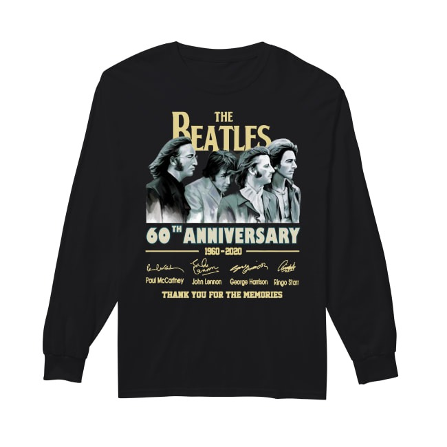 The Beatles 60th Anniversary 1960 2020 Thank You For The Memories Longsleeve Tee