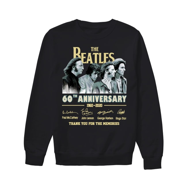 The Beatles 60th Anniversary 1960 2020 Thank You For The Memories Sweater