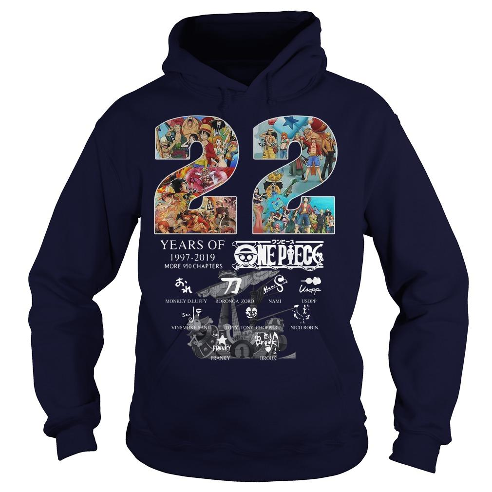 22 Years Of One Piece 1997 2019 Signatures Hoodie