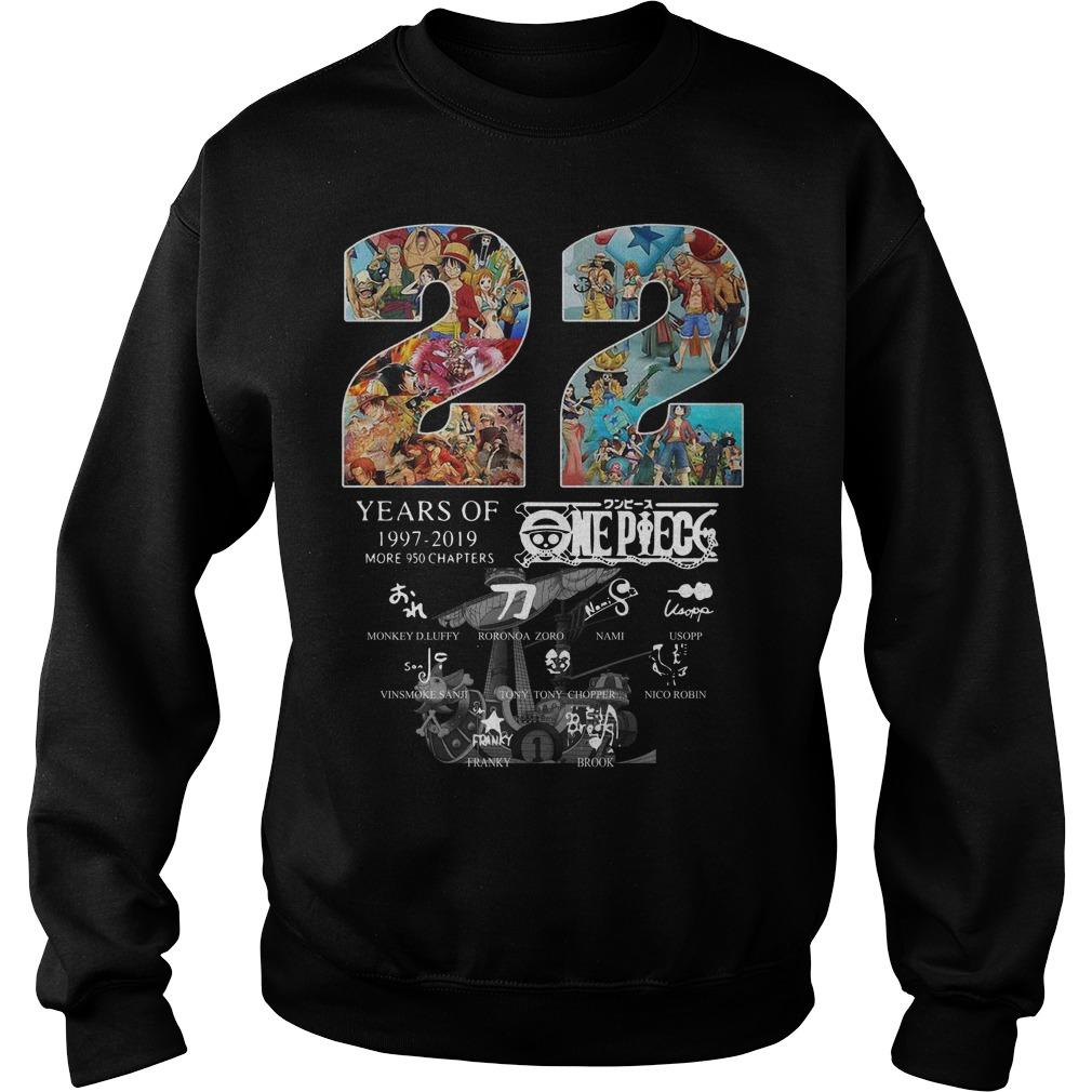 22 Years Of One Piece 1997 2019 Signatures Sweater