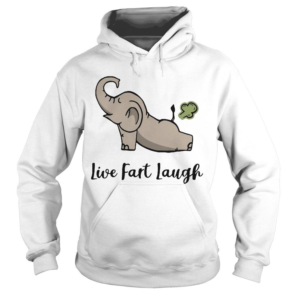 Elephant Farting Live Fast Laugh Hoodie