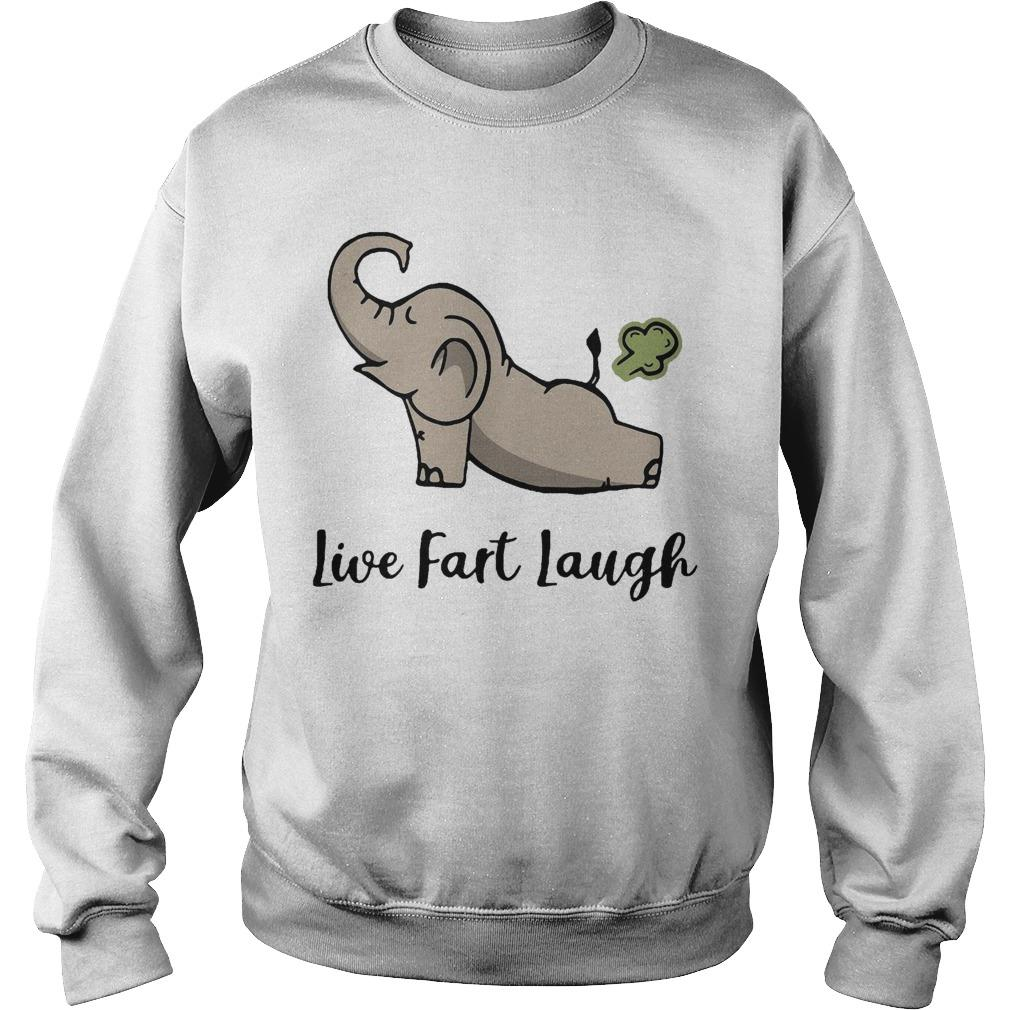 Elephant Farting Live Fast Laugh Sweater