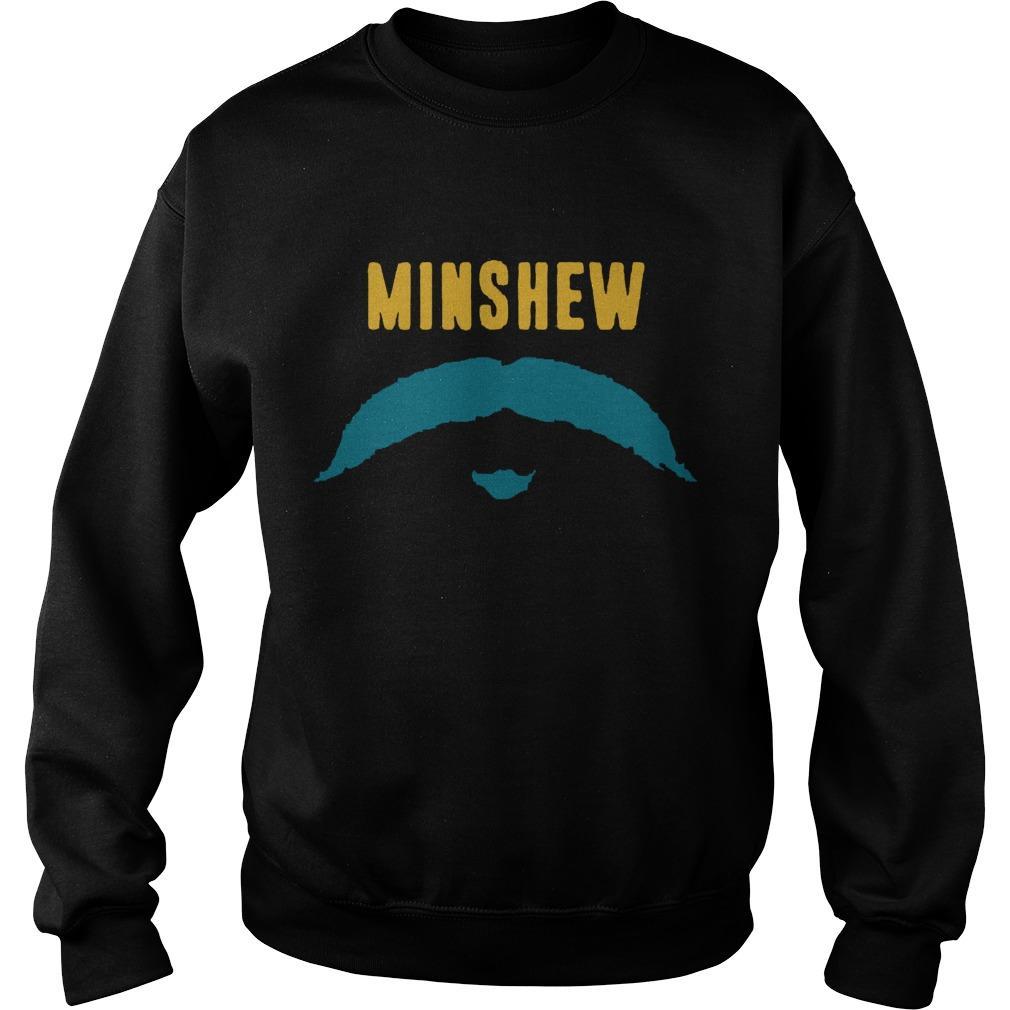 Football Jacksonville Fu Manchu Mustache Fan Minshew Sweater