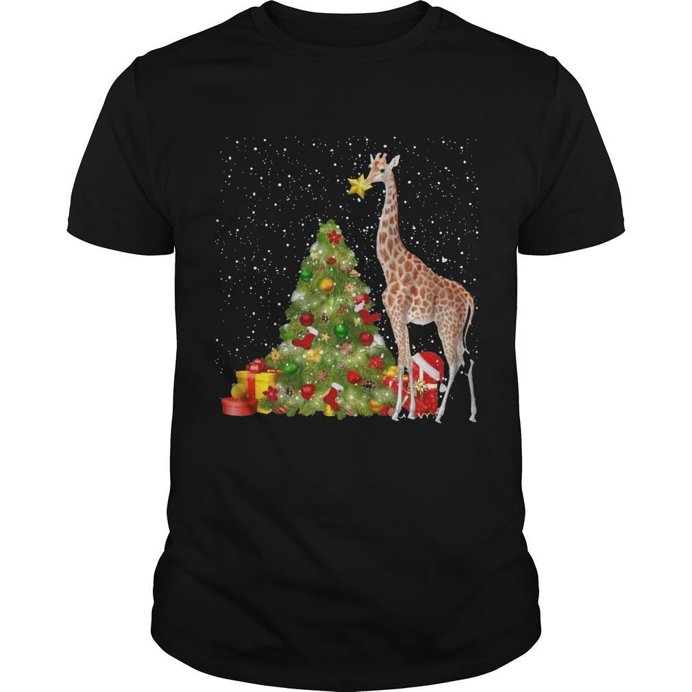 Giraffe Christmas Tree Shirt