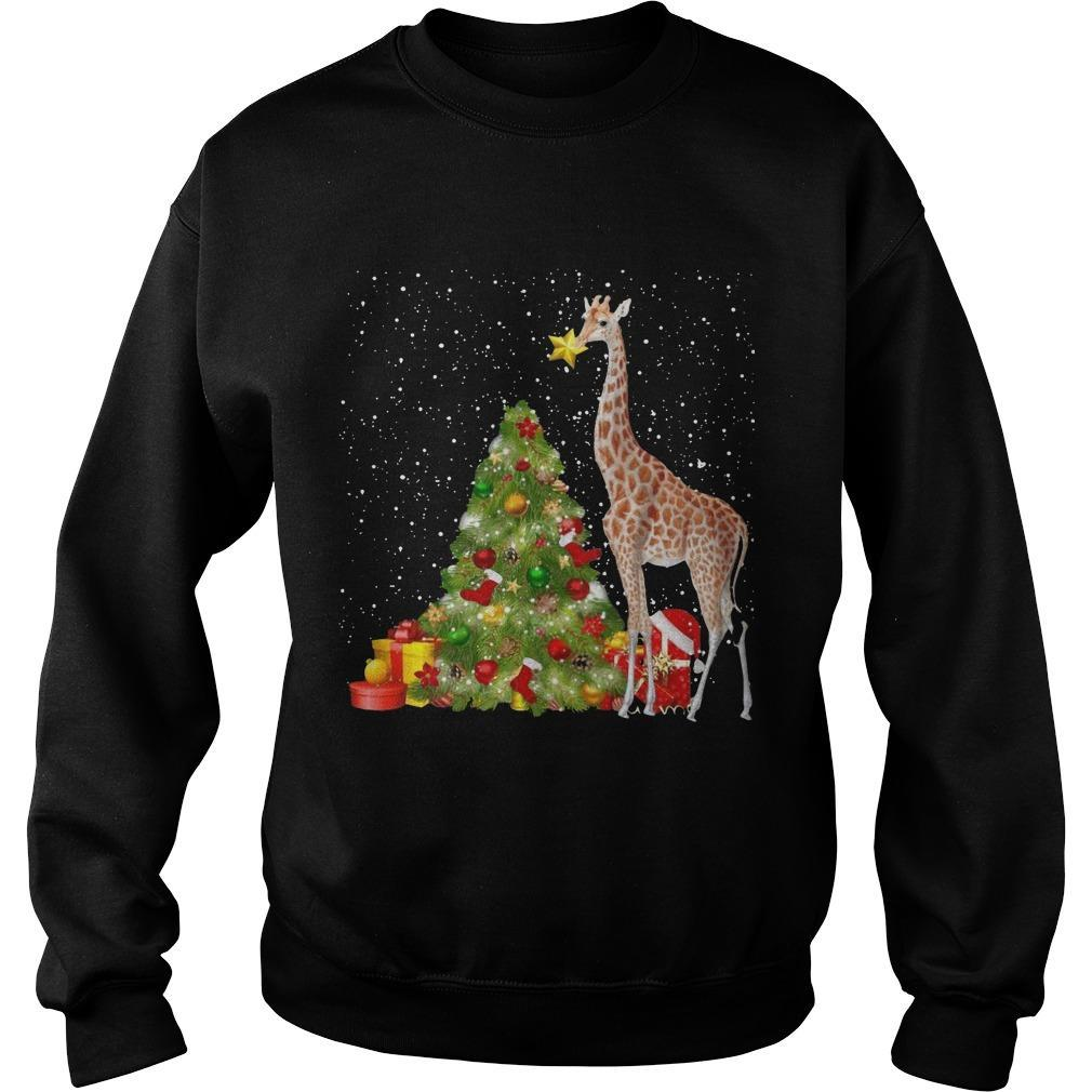 Giraffe Christmas Tree Sweater