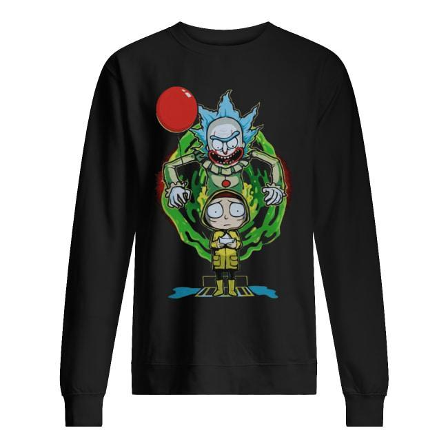 Halloween Pennywise Rick And Morty Sweater