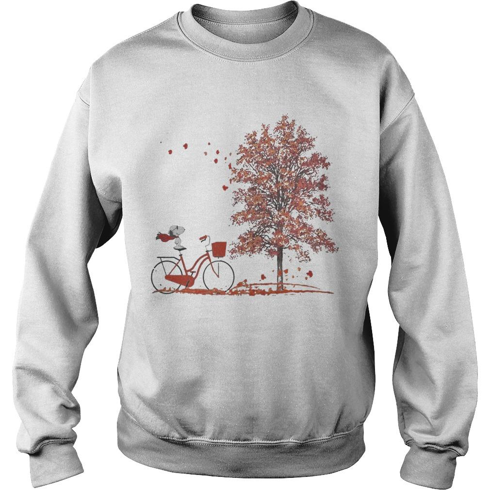 Hello Autumn Snoopy Riding Bicycle Sweater