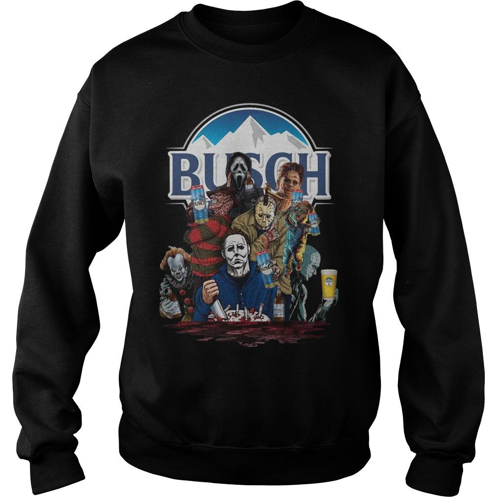 Horror Characters Busch Sweater