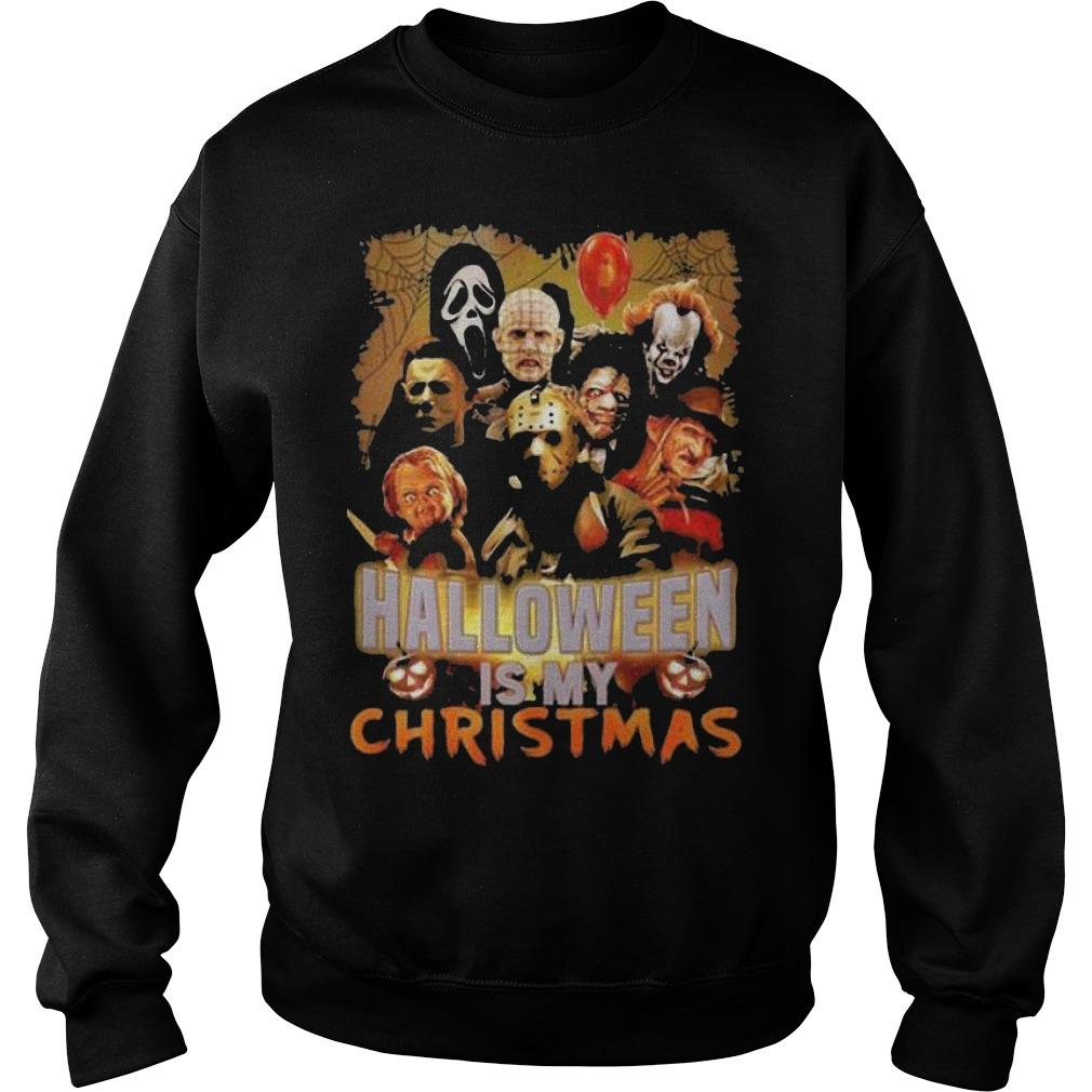 Horror Characters Halloween Is My Christmas Sweater