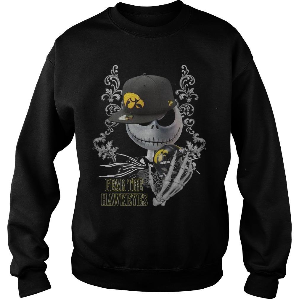 Jack Skellington Fear The Hawkeyes Sweater