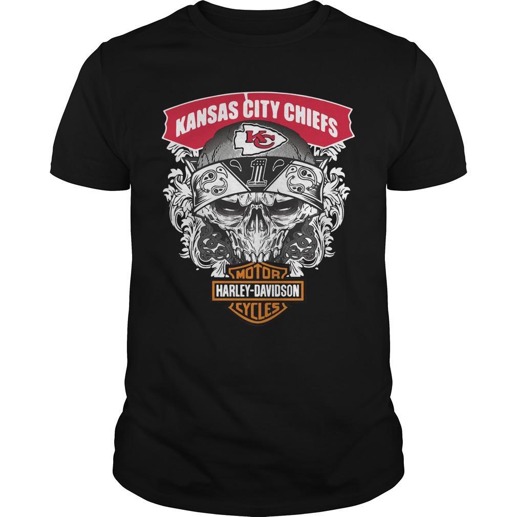 Kansas City Chiefs Motor Cycles Harley Davidson Shirt