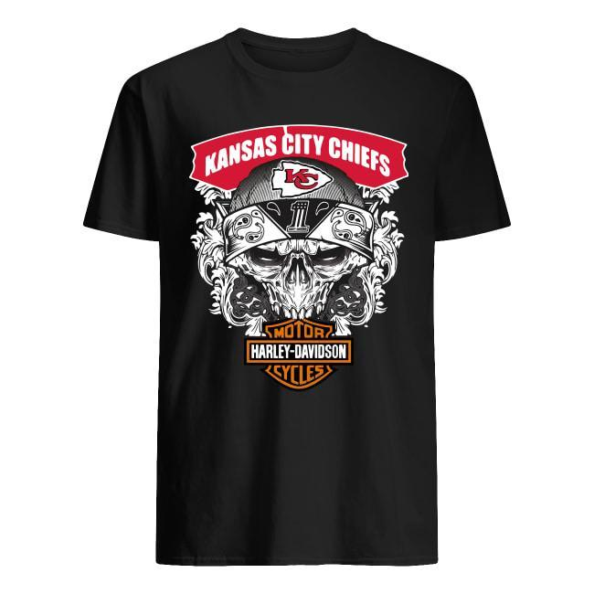 Kansas City Chiefs Motorcycles Harley Davidson Shirt