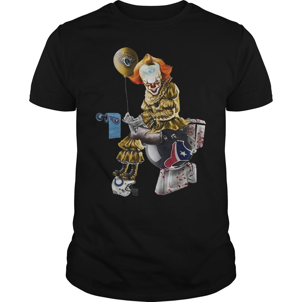 Pennywise Jacksonville Jaguars Tennessee Titans Indianapolis Colts Houston Texans Shirt