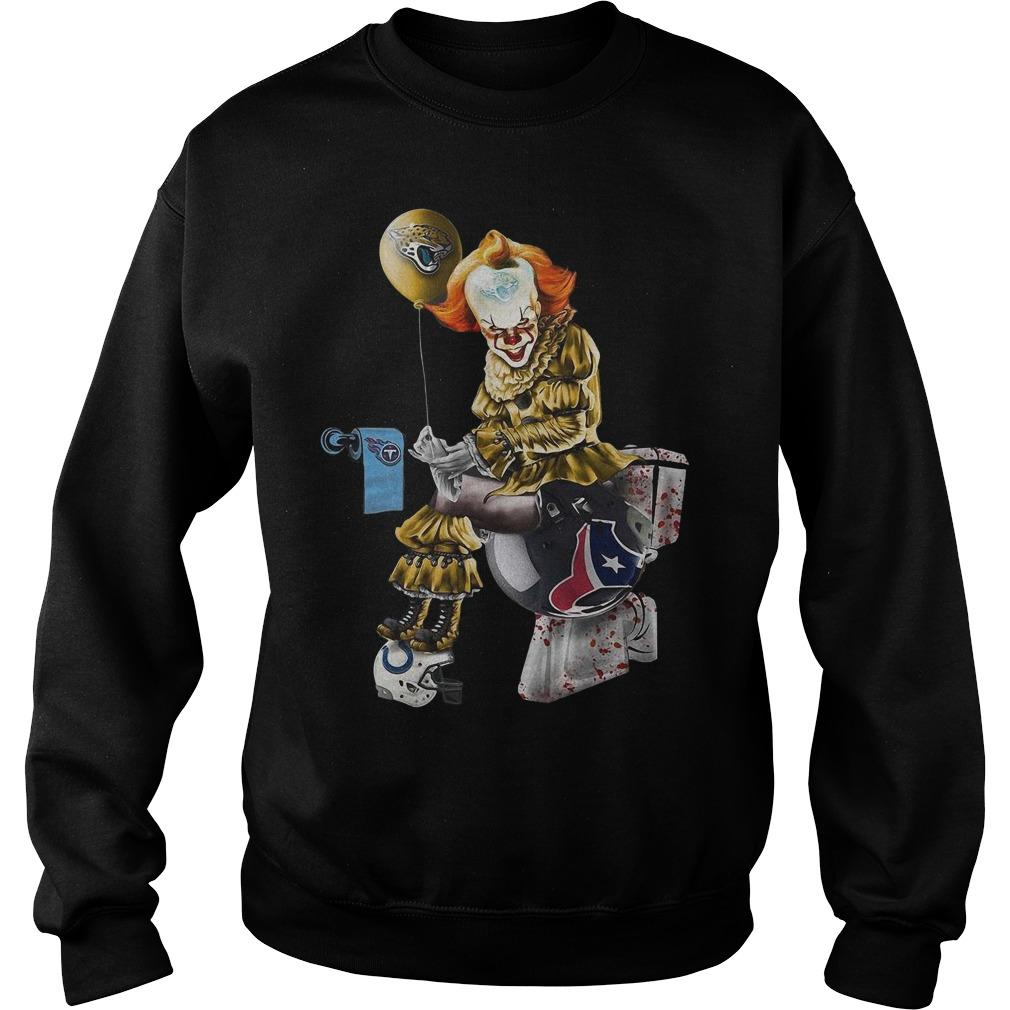 Pennywise Jacksonville Jaguars Tennessee Titans Indianapolis Colts Houston Texans Sweater