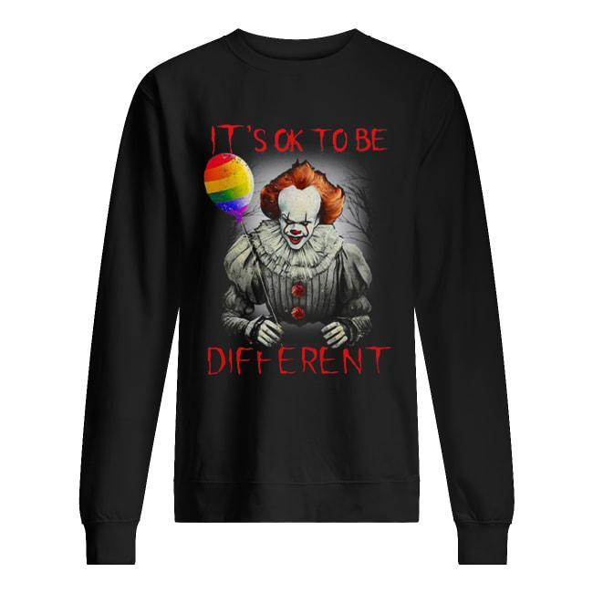 Pennywise Lgbt Balloon IT's Ok To Be Different Sweater