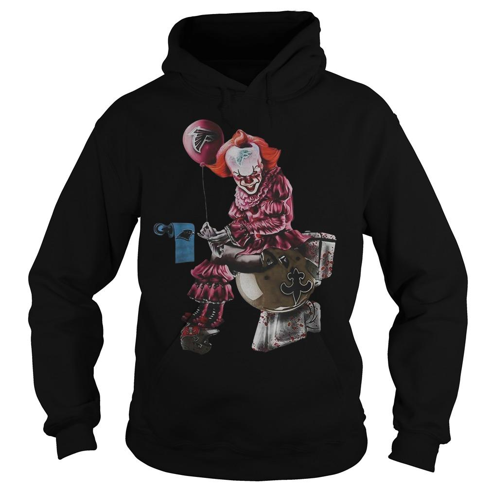Pennywise Toilet Atlanta Falcons New Orleans Saints Hoodie