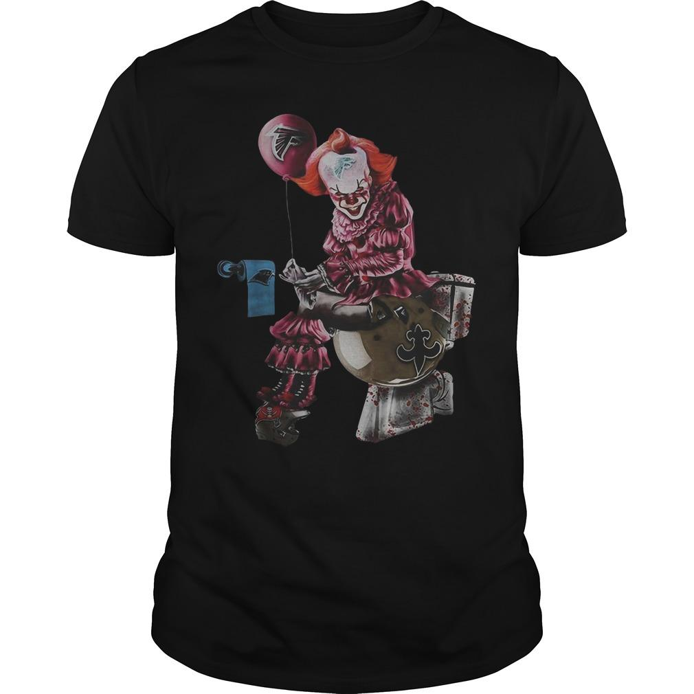 Pennywise Toilet Atlanta Falcons New Orleans Saints Shirt