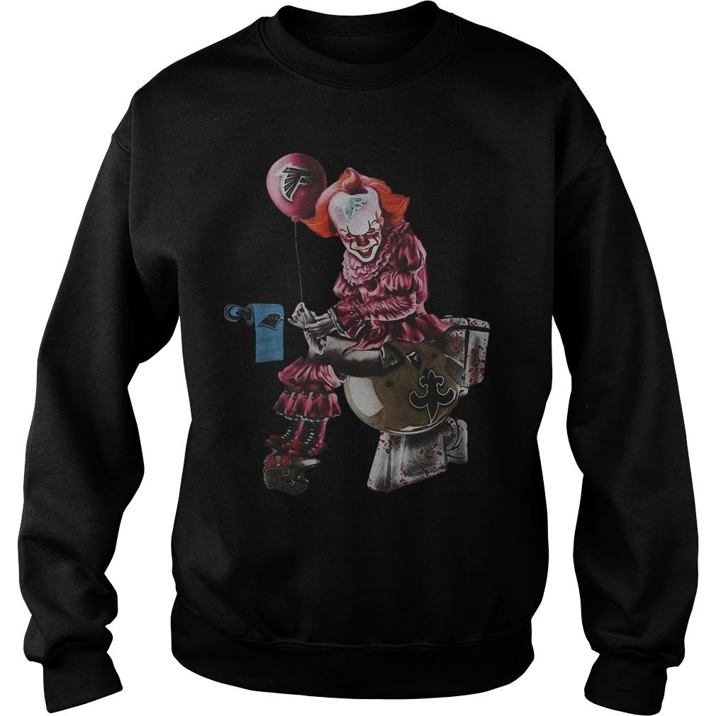 Pennywise Toilet Atlanta Falcons New Orleans Saints Sweater