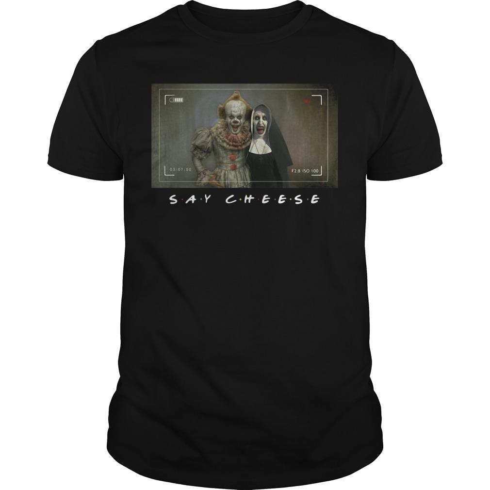 Pennywise Valak Photo Say Cheese Shirt