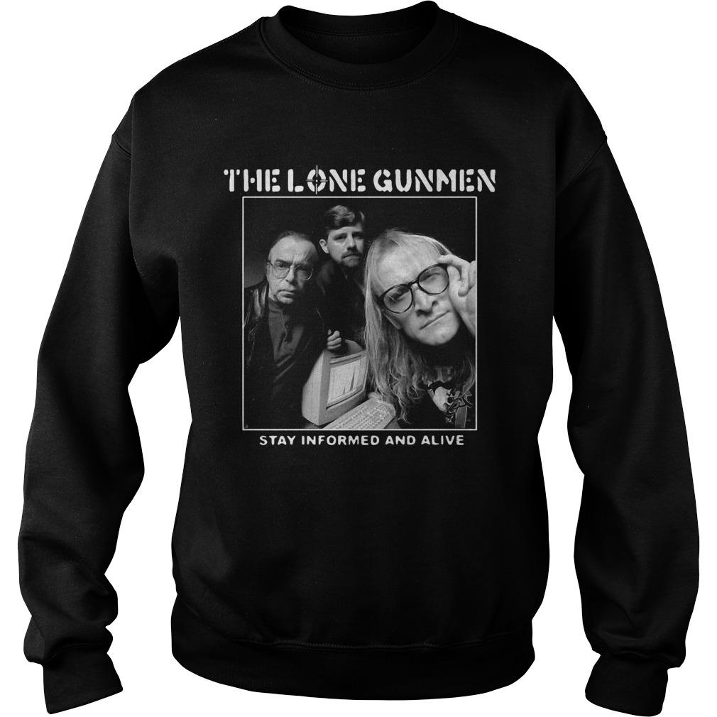 The Lone Gunmen Stay Informed And Alive Sweater