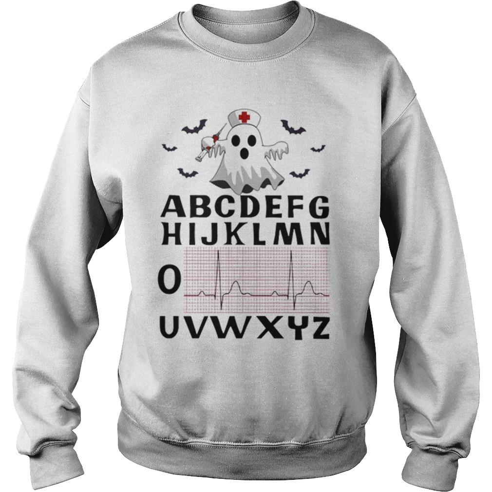 Boo Ghost Nurse Alphabet Heartbeat Sweater