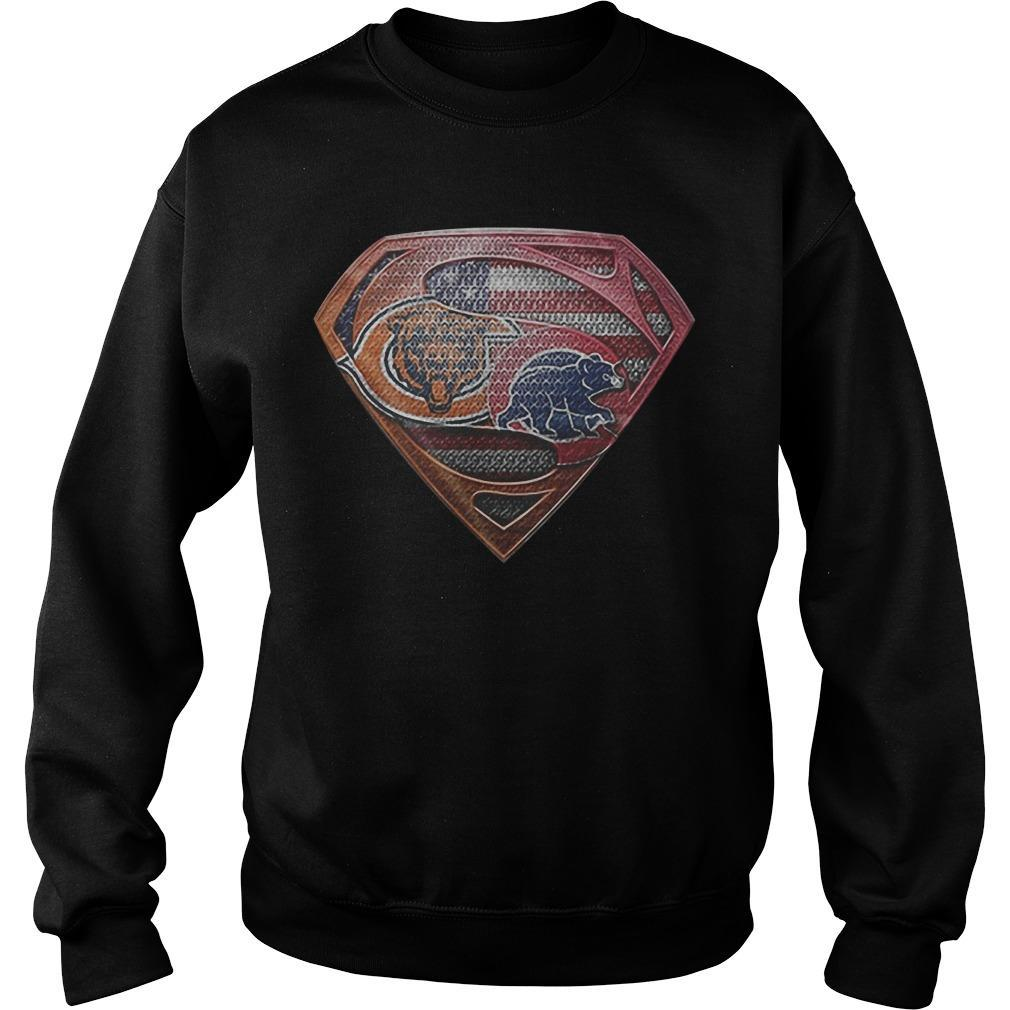 Chicago Bears Chicago Cubs Logo Superman T Sweater