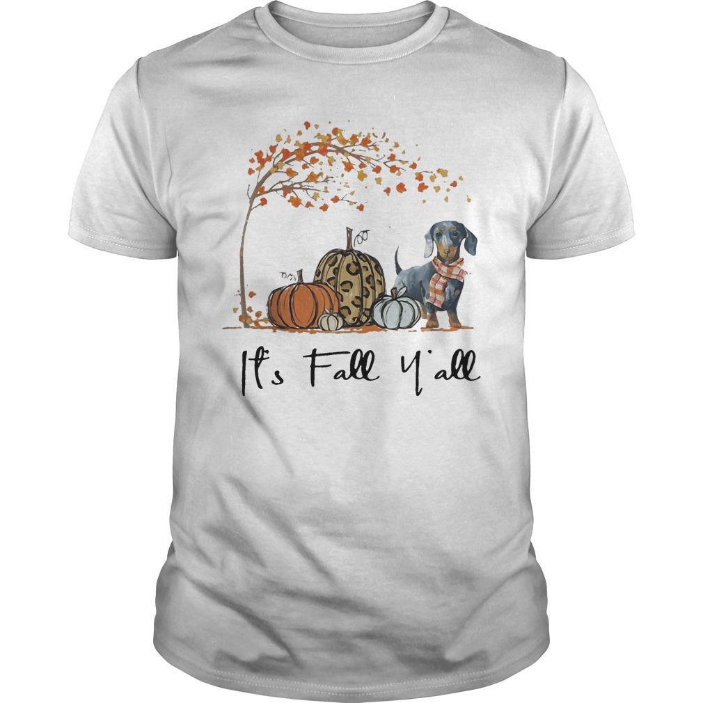 Dachshund It's Fall Y'all Shirt