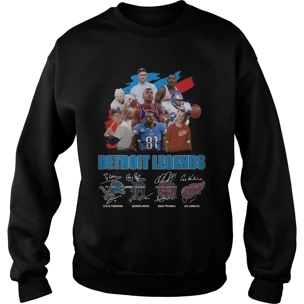 Detroit Legends Team Player Signatures Sweater