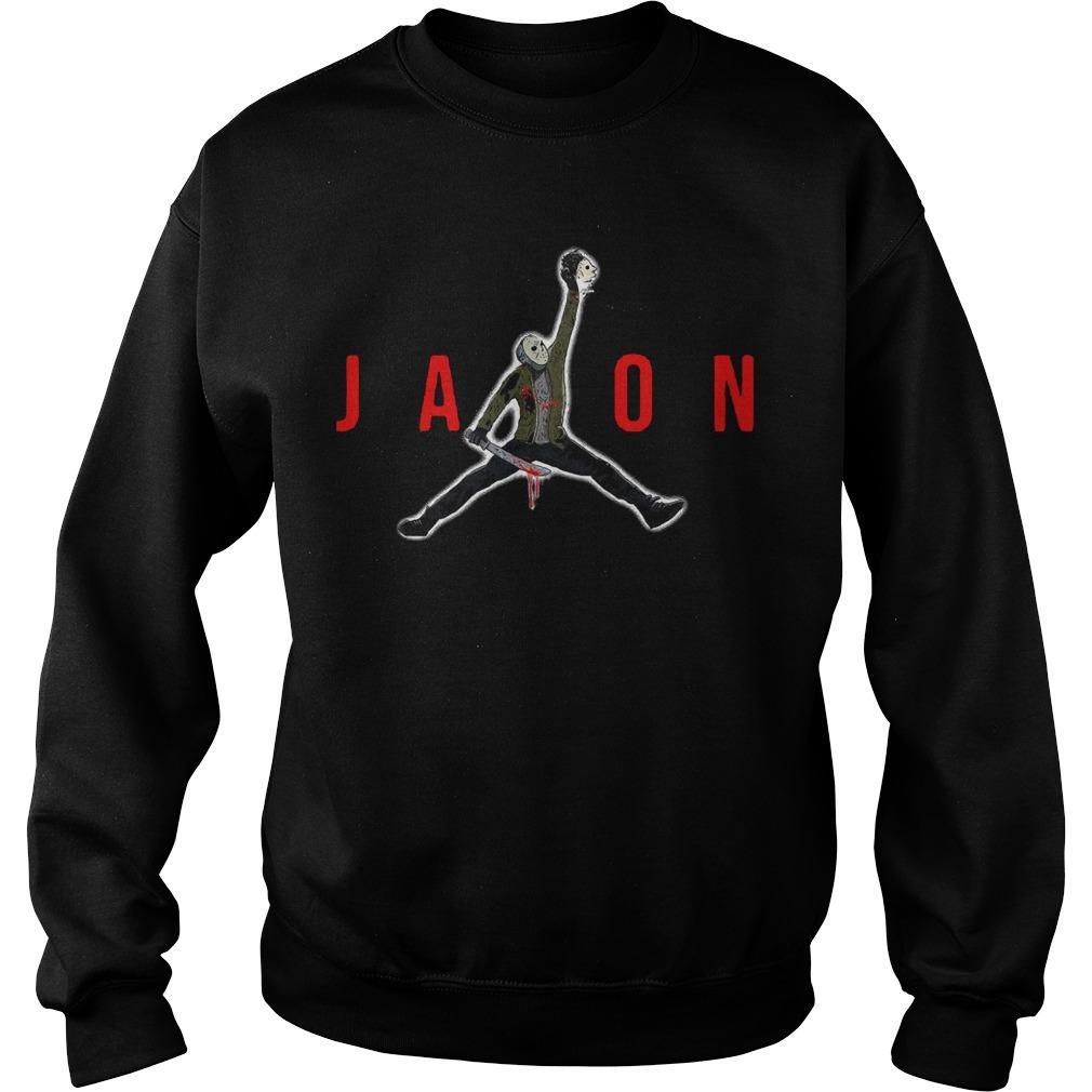 Halloween Air Jordan Jason Voorhees Sweater