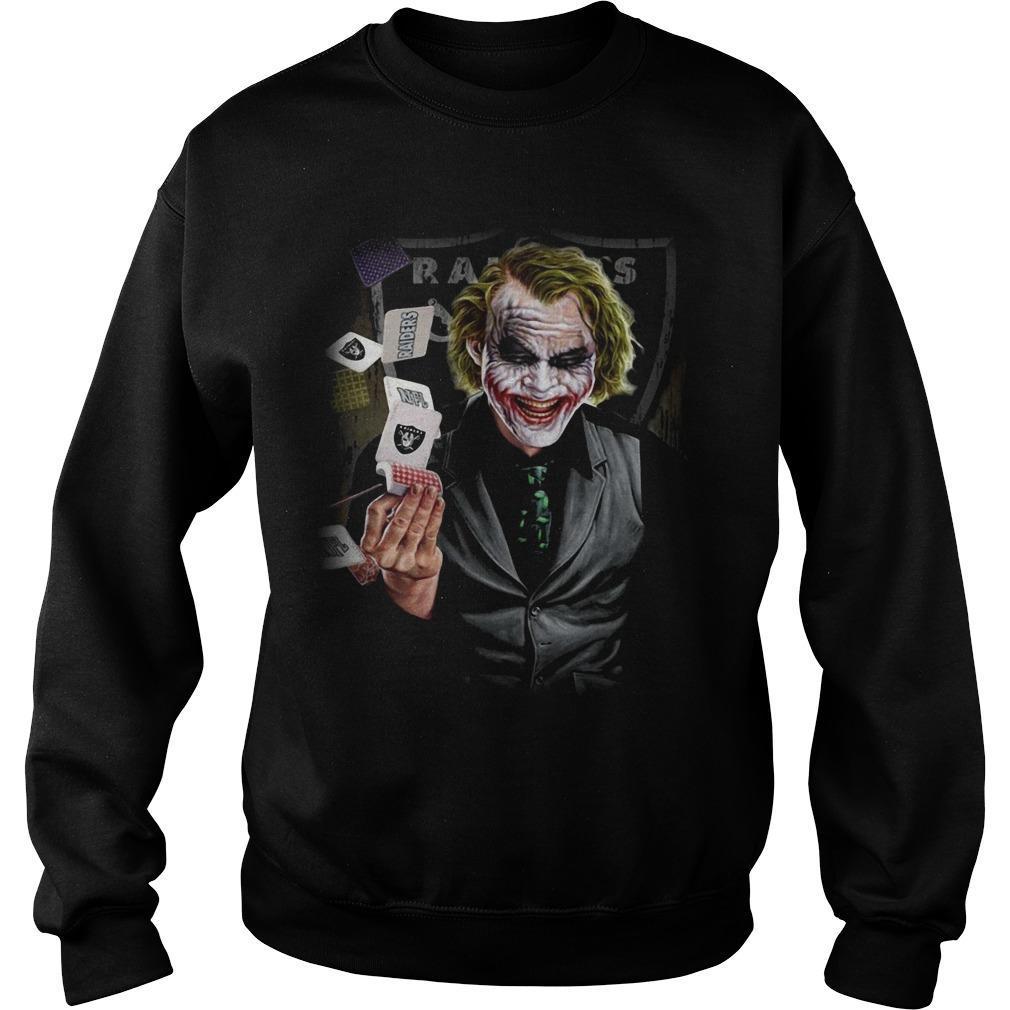 Oakland Raiders Poker Joker Sweater