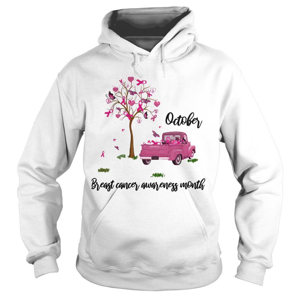 Truck October Breast Cancer Awareness Month Hoodie