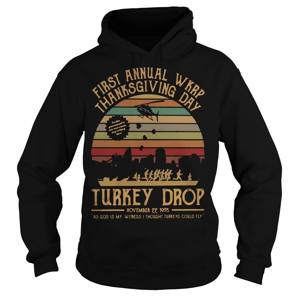 Vintage First Annual Wkrp Turkey Drop Hoodie