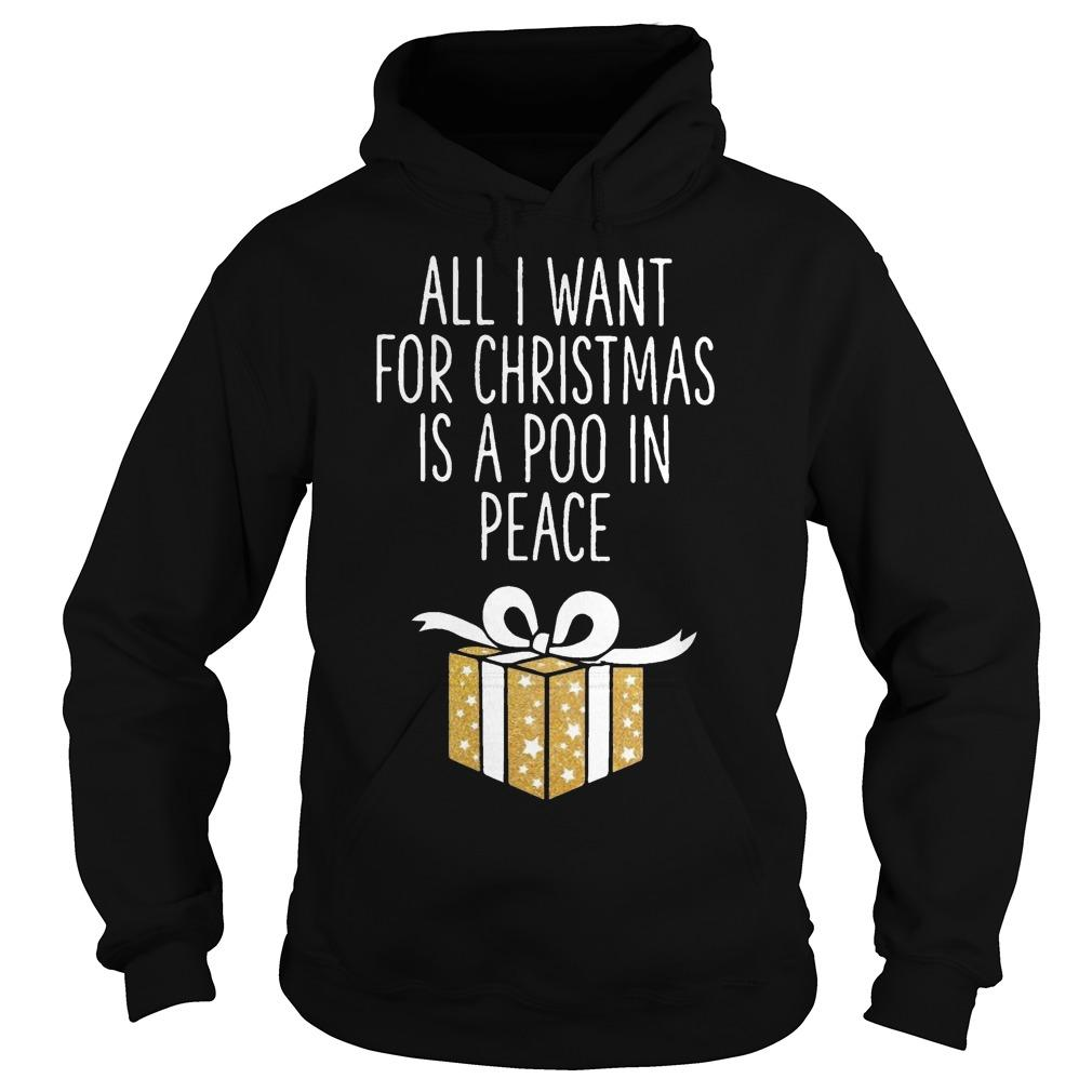 All I Want For Christmas Is A Poo In Peace Hoodie