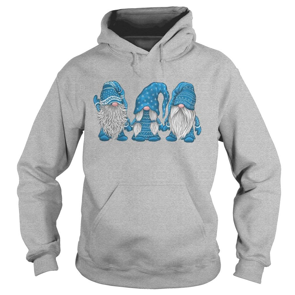 Christmas Hanging With Blue Gnomies Hoodie