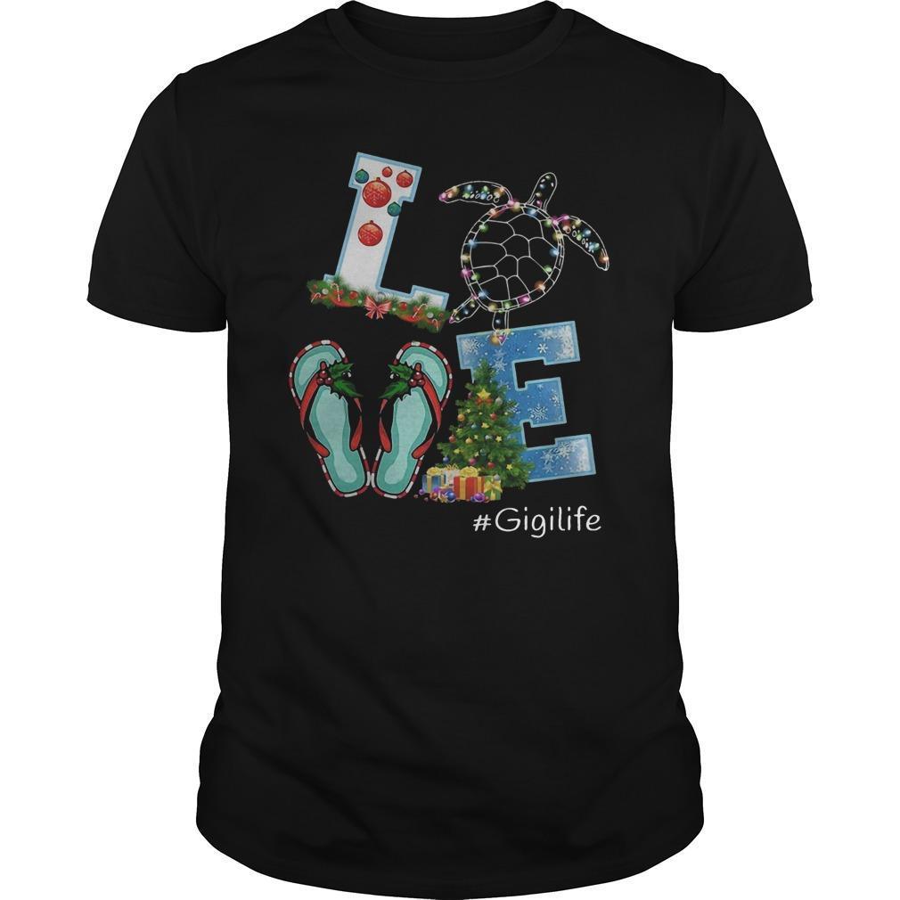 Christmas Love Turtle Gigilife Shirt