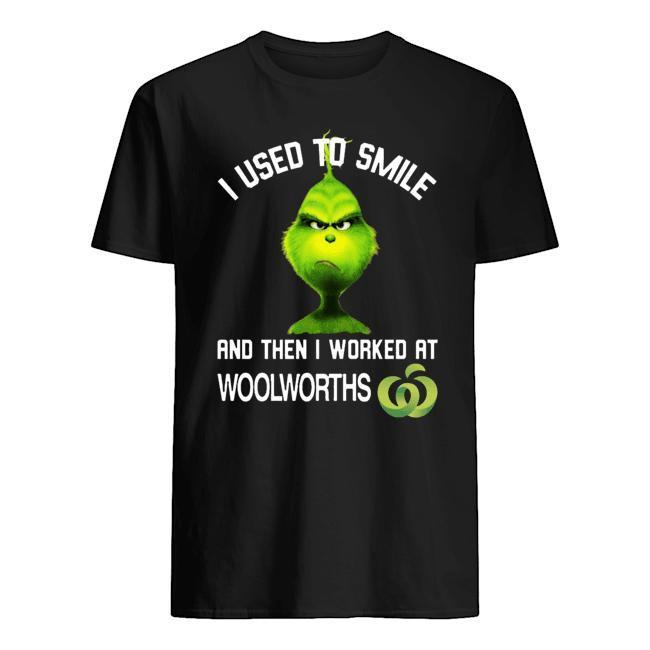 Grinch I Used To Smiled And Then I Worked At Woolworths Shirt