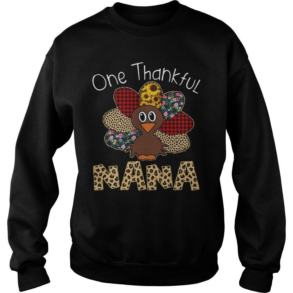 Leopard Print Turkey One Thankful Nana Sweater